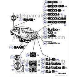 SAAB YAZI ARKA  9000 CSE  9000 1993