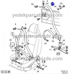 EMNİYET KEMERİ ARKA SAĞ 900 / 9-3