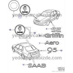 SAAB YAZI ARKA  95  9-5 1998 - 2005