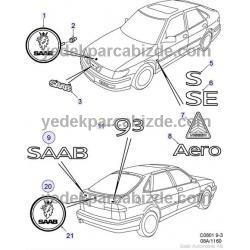 SAAB YAZI ARKA  S  9-3 1998 - 2003