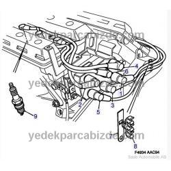 BUJİ KABLOSU 900 / 9000 V6