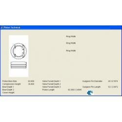 PİSTON + SEGMAN 145 / 146 1.4 TWINSPARK