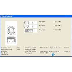 PİSTON + SEGMAN 145 / 146 / 156 1.6 TWINSPARK