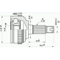 AKS KAFASI ABS Lİ 414 / 416